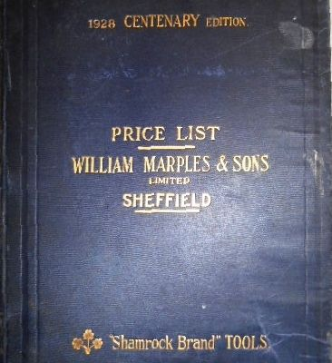 Catalogue Marples et Sons 1928
