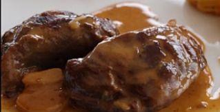 Noix De Porc Au Cidre, Crème D'ail Et Pommes Fondantes