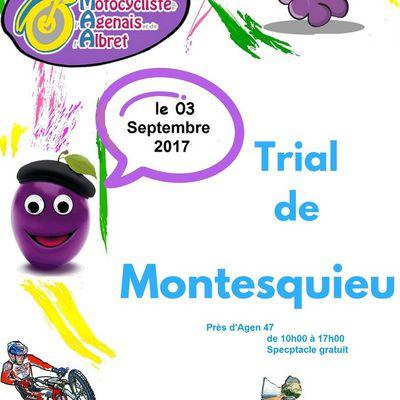 Trial Ufolep Montesquieu (47) 3 septembre 2017
