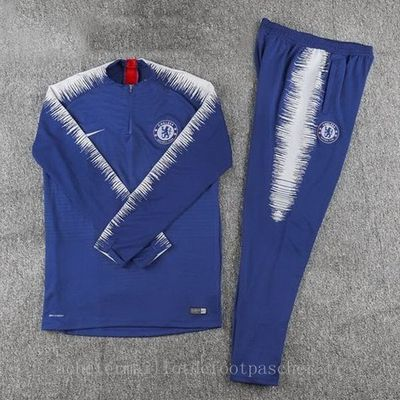 Survetement foot de ensemble Enfant Nike bleu Chelsea 2019