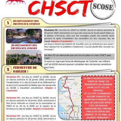 En direct du CHSCT du SCOSE du 18 janvier 2018 !