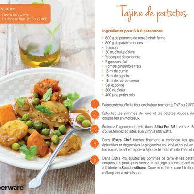Idée recette à faire dans l'Ultra Pro 3,5 L : un tajine de patates !!
