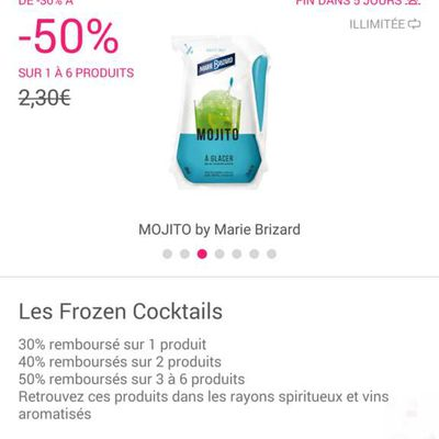 Super bon plan shopmium / Auchan Frozen Cocktail