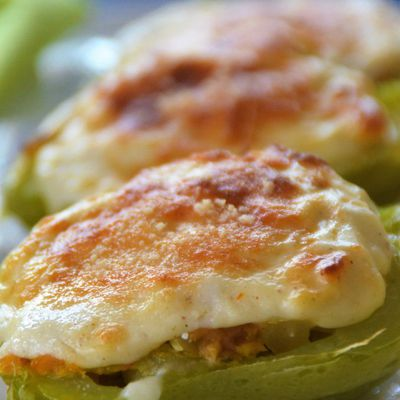 Stuffed Chayote