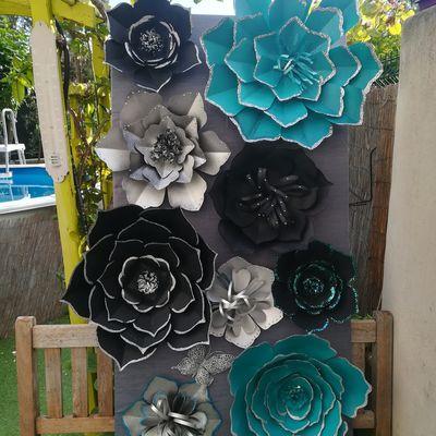 Décoration Fleurs géantes en papier