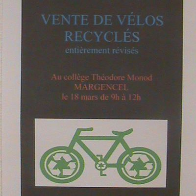 JOURNEE VENTES DE VELOS RECYCLES 18 MARS 2017
