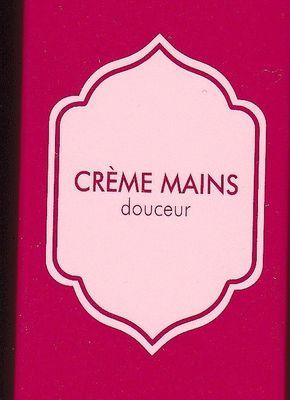 La Crème Mains douceur de Nocibé : cadeau de l'enseigne