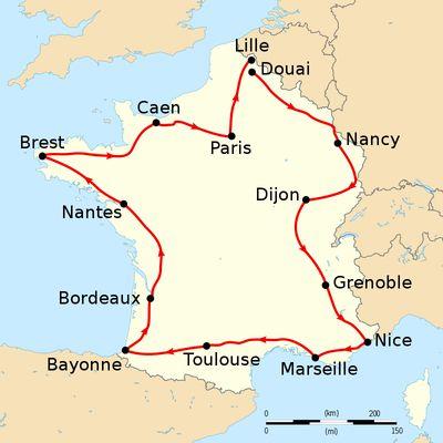 Léon Winand , 13 éme du Tour de France 1906