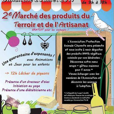 La Rochette marché des produits du Terroir et de l'Artisanat accueil Protection Animale Charente
