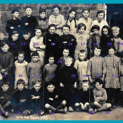une classe de 37 élèves en 1931