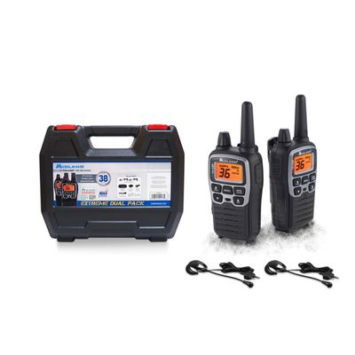 The Midland X-Talker T77VP5 36-Channel Two-Way UHF Radio Extreme Dual Pack