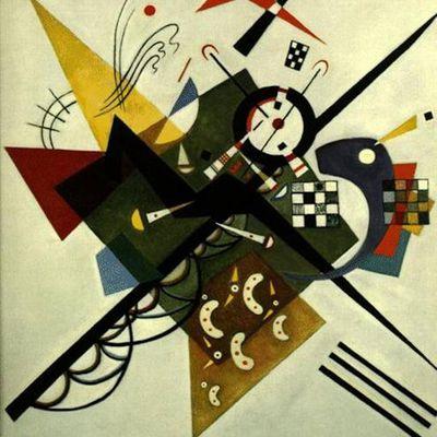 """Sur blanc II"", du peintre Vassily Kandinsky"