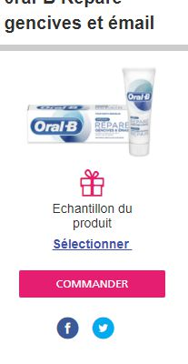 ÉCHANTILLON DENTIFRICE ORAL B