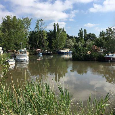 une randonnée le long du canal du midi