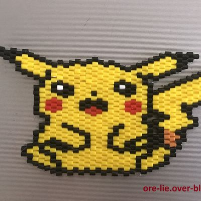 Tissage de perles - Pikachu (Pokemon)