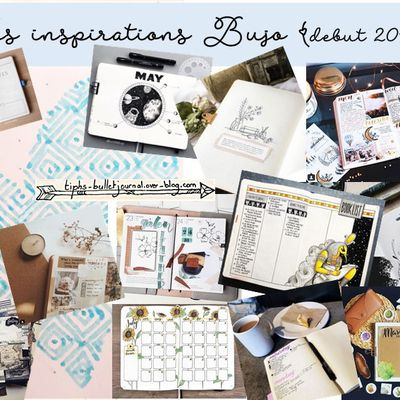 Mes inspirations Bullet Journal (début 2018)