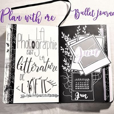 Plan with me JUIN 2019 - Bullet Journal