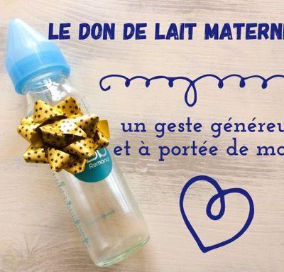 Le don de lait maternel