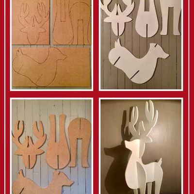 fabrication d'un renne de Noël en bois