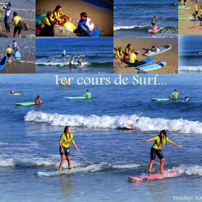 Surf devant l'appartement