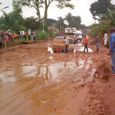 Road leading to Minister 's hometown in lugubrious condition