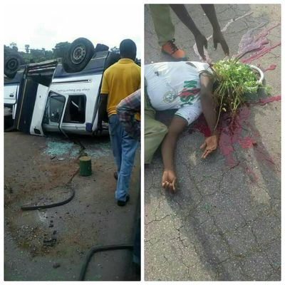 Just in: fatal accident occurs on Enugu Road, corpers feared dead