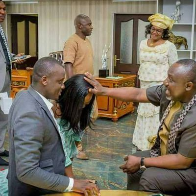 Hilarious! Rochas Okorocha prays for couple who visited him