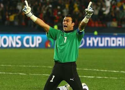 Egypt's goalkeeper became the oldest player to appear in a world cup match
