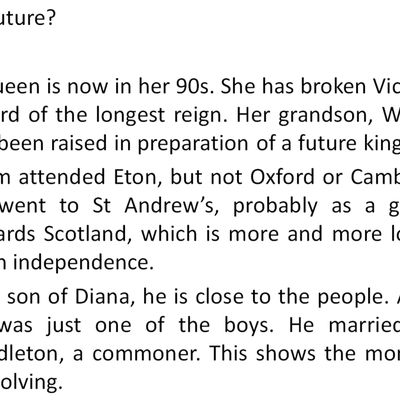 The British Royal Family (continued)