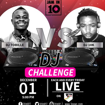 HIT EVENT::TXT,VOTE, Dj  TOBILE UPPER WEST TOP Dj TO WIN  TV3/3FM JAM IN10 DJs Competition .www.gbaagamusic.com