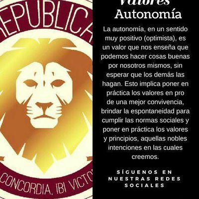 valores REPUBLICA AUTONOMÍA