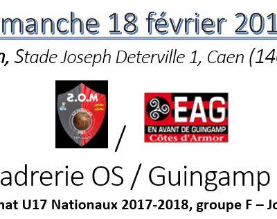 #U17nat - Championnat J20 : Feuille de route pour notre déplacement à La Maladrerie (14)
