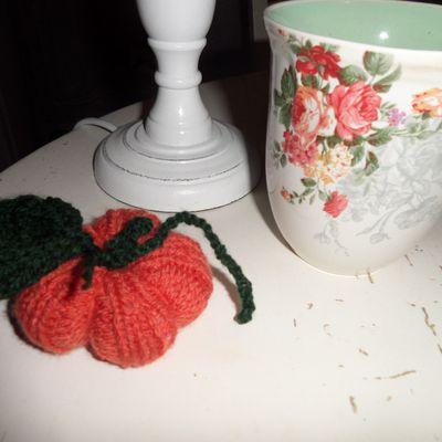 Tuto : une citrouille tricotée - knit a pumkin