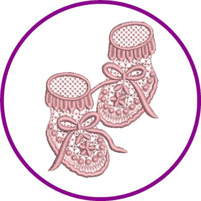 BRODERIE CHAUSSONS