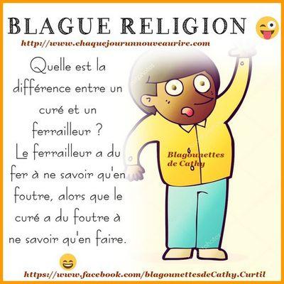 Blague sur le thème religion