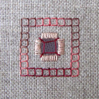 Tuto: le point quadrillé - the four sided stitch