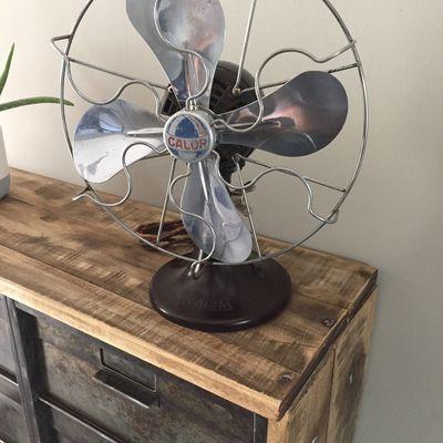 Ancien ventilateur CALOR Vintage Bakélite