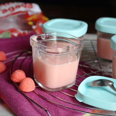 Crème dessert à la fraise tagada -sans oeuf-