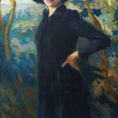 Femme dans un paysage
