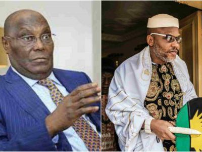 Atiku is from Cameroon – Nnamdi Kanu says in Live broadcast