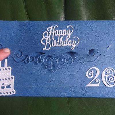 carte anniversaire et sa pochette cadeau