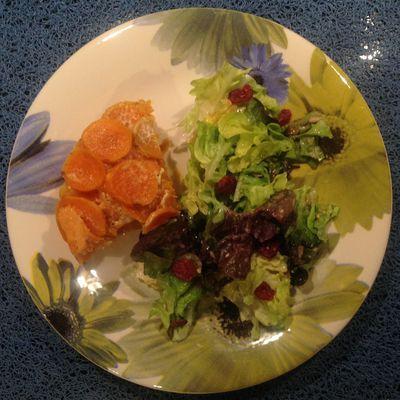 """Gratin """"tout orange"""" de patates douces au saumon fumé"""