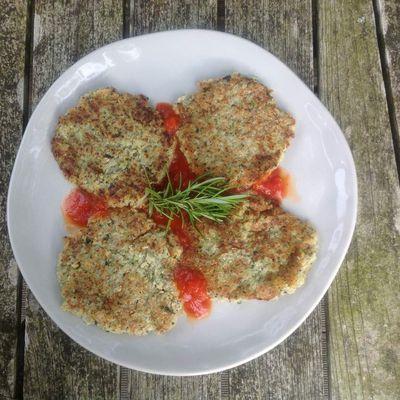 Galettes végétales au coulis de tomates