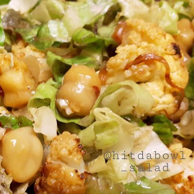 ROASTED CAULIFLOWER WITH TANGY DRESSING