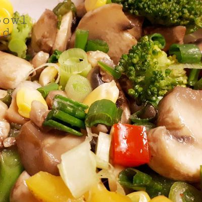 MUSHROOM WITH MIXED VEGETABLES