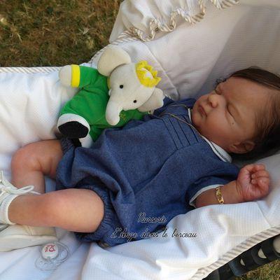 Ellis bébé reborn, du kit Ellis de Olga Auer