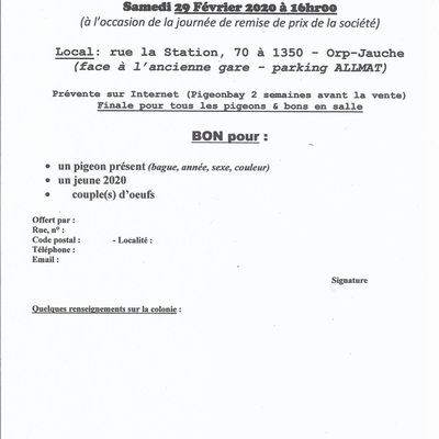 JOURNEE SPORTIVE 2019/2020 & VENTE BONS (New)
