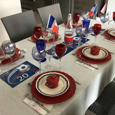 """Déco de table """"Allez les bleus"""""""