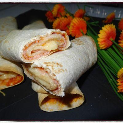 Wrap roulé façon pizza