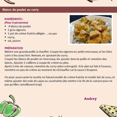 Blancs de poulet au curry